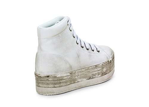 Sneaker JC Play alta bianco washed White