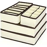 Elite99 4 Pièces Boîtes de rangement Durable pliable tiroir range-placards pour Sous- Vètements/Culotte/Foulard/Lingerie/Soutien-Gorge/Chaussettes gain de place