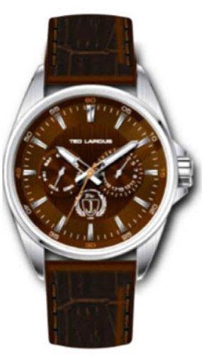 Ted Lapidus - 5118202 - Montre Homme - Quartz Analogique - Cadran - Bracelet Cuir Marron