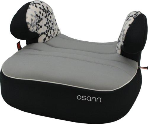 Osann Kinderautositz Autositzerhöhung Booster Dream Plus Corail Black schwarz, 15 bis 36 kg, ECE Gruppe 2 / 3, von ca. 3 bis 12 Jahre, mit integrierter Gurtführung und bequemen Armlehnen