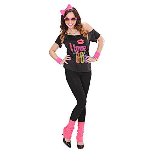 80er Jahre Outfit Madonna Kostüm Popstar Faschingskostüm 80s Disco Karnevalskostüm Nena Retro Verkleidung Mottoparty Aerobic Tanzkostüm (Disco Tanzkostüme)