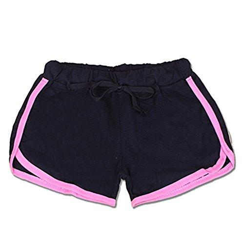 Hippolo dété Pantalon femmes Sports Short Gym entraînement Yoga Short S bleu noir/rose
