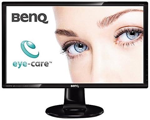 BenQ GL2460HM LED TN 24 inch Widescreen Multimedia Monitor (1920 x 1080, DVI, HDMI, 12M:1, 2 ms GTG, 1000:1, Speakers, Slim Bezel) - Glossy Black