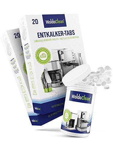 WoldoClean I 40x Entkalker-Tabletten I 150x Reinigungstabletten für Kaffeevollautomaten I...