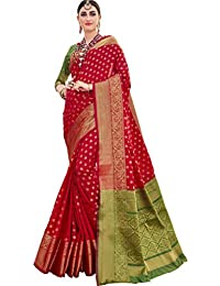 EthnicJunction Booti Zari Butta Banarasi Silk Saree With Zari Thread Work Unstitched Blouse Piece(EJ1178-7978,...