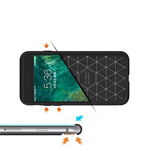 Cover iphone 8 PLUS, Lincivius®, Cover Iphone 8 PLUS 5.5 Custodia Di Gel In Silicone TPU Case Coppertura Prottetiva Logo : Grigio Logo : Grigio
