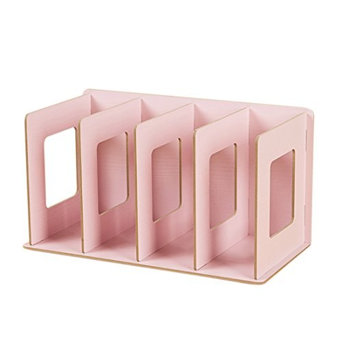 CD Ständer, WOLFBUSH CD DVD Ständer Regal CD Storage Shelves - Rosa