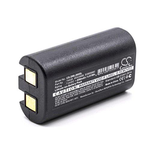 vhbw Li-Ion Akku 650mAh (7.4V) für Drucker Kopierer Scanner Etiketten-Drucker wie Dymo 1758458, S0895880, S0915380, W003688 7.4 V Pack