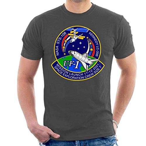 vcbndfcjnd STS 108 Endeavour Crew Badge Men's T-Shirt XXL