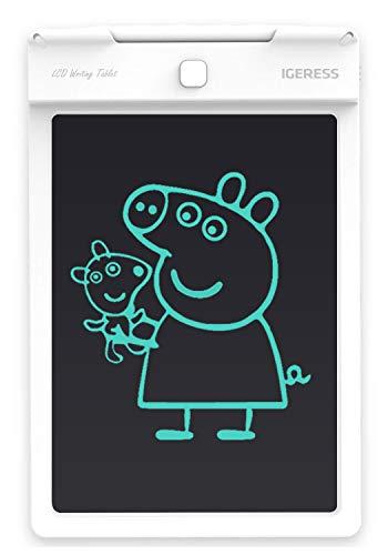 IGERESS Neueste Weiß 9-Zoll-LCD-Schreibtafel Elektronische Schreibtafel Digitale Zeichenplatte Grafische Grafiktablette Langlebig (Weiß)... ...