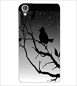 PrintDhaba Scary Night D-2454 Back Case Cover for HTC DESIRE 820 (Multi-Coloured)
