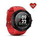 N NEWKOIN Smartwatches Outdoor GPS Smart Watches Sport Uhr IP68 Wasserdicht Sportuhr Fitness Tracker Pulsmesser/Schrittzähler/Schlaf Monitor Aktivitätstracker(Rot)