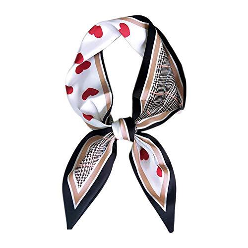 Namgiy Bufanda para el Pelo, Bolsa de decoración para pañuelos, muñequera, Accesorios de muñeca, patrón de corazón, para Mujeres, niñas, Festivales, cumpleaños, Descenso de 85 cm, Rojo, 85 cm