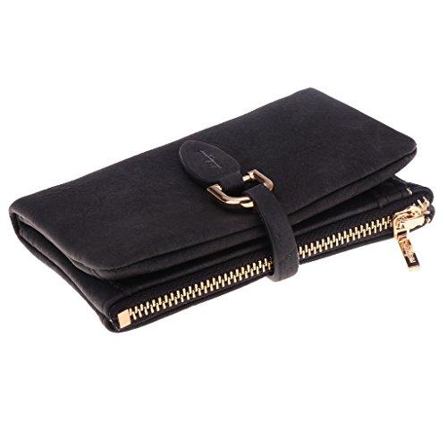 Rose Bagages Sharplace Femme Portefeuille Mini Trousse Maquillage Porte Monnaie Pochette Carte de Crédit