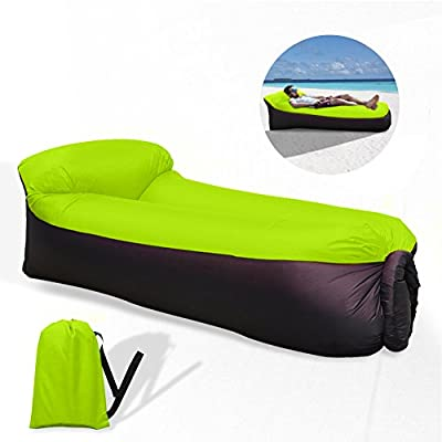 Waitiee waterproof portable Inflatable Sofa with Integrated Pillow, Air Sofa Inflatable Lounger, Air Lounger Inflatable Couch, Air Bed Beach Lounger with Storage Bag for Travelling, Camping, Beach, Park, Backyard - inexpensive UK light shop.