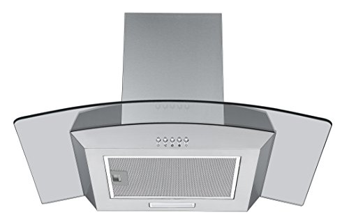 41jAQIvFQDL - Cookology CGL700SS 70cm Curved Glass & Stainless Steel Kitchen Chimney Cooker Hood