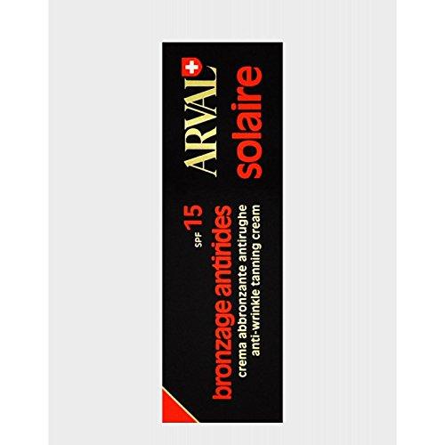 Arval solaire bronzage antirides spf 15 50 ml crema abbronzante antirughe media protezione