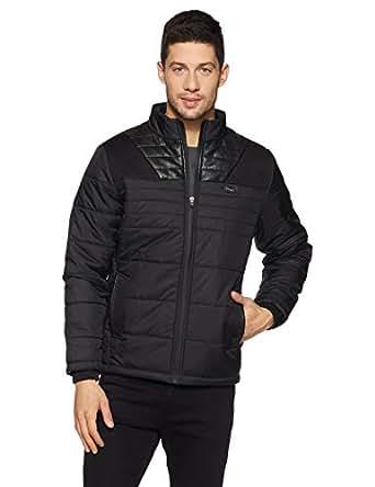 Qube By Fort Collins Men's Nylon Jacket (14726 SMU_Black_M)