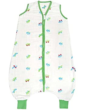 Schlummersack Musselin Schlafsack mit Füßen für den Sommer in 0.5 Tog - erhältlich in verschiedenen Größen und...