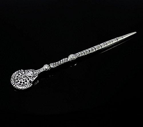 Banithani conception magnifique broche chignon sculpté à la main les cheveux indiens accessoire cadeau de bâton pour les femmes argent-2