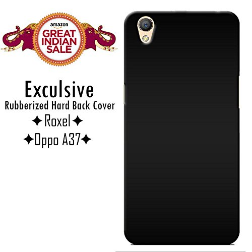 Roxel Premium 3D Back Cover for Oppo A37f Hard Plain Cover | |Perfect Fit | Tough Cover | Plain Cover |Oppo A37f -New Black