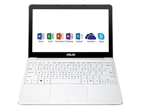 Asus E200HA-FD0080TS PC Portable 11.6' Blanc (Intel Atom, 4 Go de RAM, EMMC 32 Go, Windows 10) + Office 365 Personnel inclus pendant 1 an