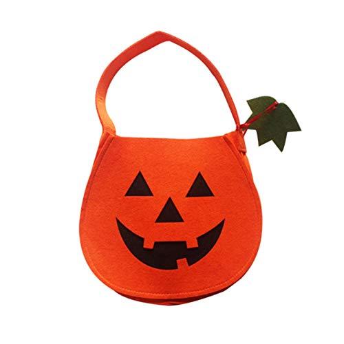 Ironheel Kürbis Süßigkeiten Handtaschen-Süßigkeit-Speicher-Beutel Halloween für Jungen oder Mädchen-Kostüm-Partei-Beutel mit Handgriff für Kinder Halloween