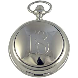 A E Williams Men's 18th Mechanical Pocket Watch 4961B18Sk