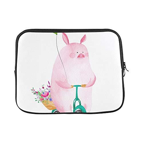 JOCHUAN Design Benutzerdefinierte Nette Schwein Reiten Fahrradhülle Weiche Laptop Tasche Tasche Haut Für MacBook Air 11