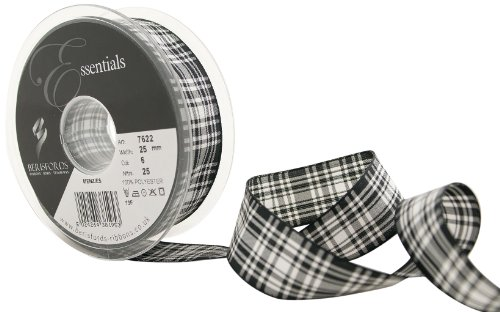 Berisfords 7622 Traditionelles Band im Menzies-Schottenmuster, 25 m x 25 mm -