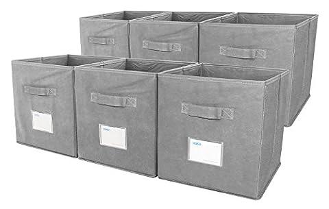 esylife Chiffon Cube de rangement pliable Lot de 6boîtes de