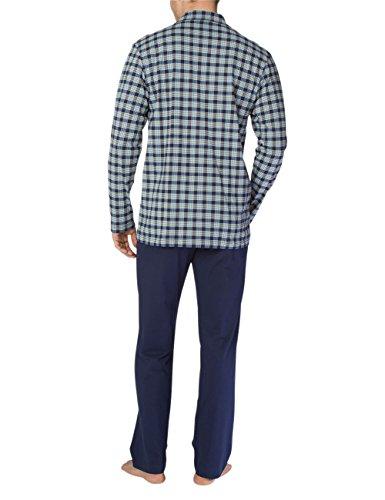 Calida Herren Zweiteiliger Schlafanzug Bill Pyjama Mehrfarbig (Dark Blue 449 )