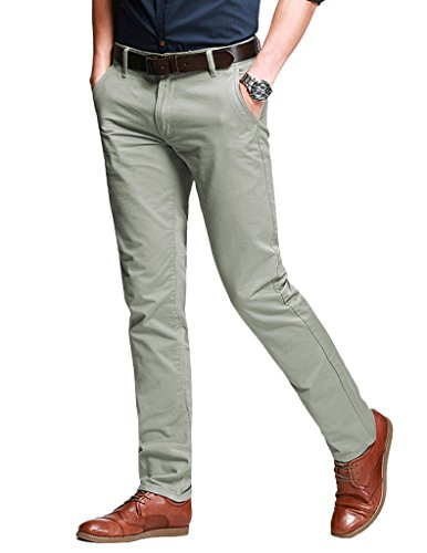 Match Herren Slim Casual Hose #8050 8050 Pea green