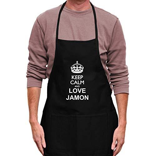 Teeburon Keep Calm and Love Jamon Delantal 24