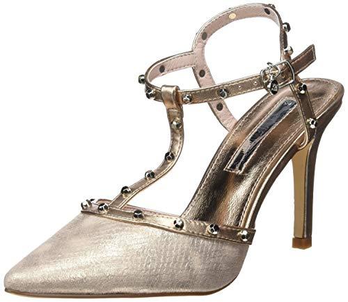 XTI 35030, Zapatos tacón Punta Cerrada Mujer, Rosa
