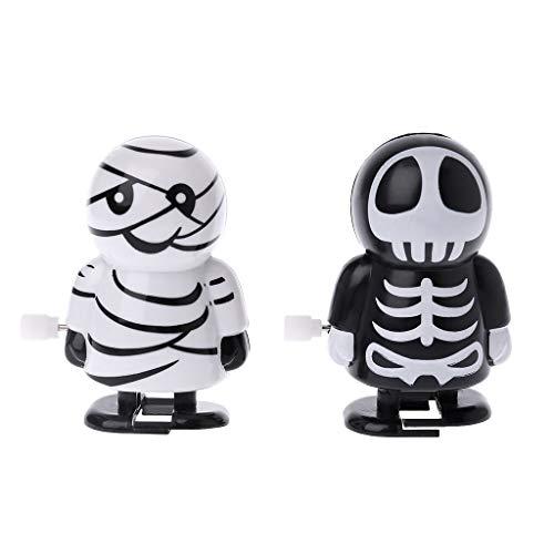 Dabixx Halloween Uhrwerk springen Geist mechanische pädagogische Spielzeug Streich Spiel liefert - Farbe nach dem Zufallsprinzip