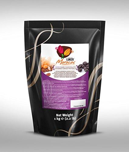Dunkle Schokolade mit getrockneten Früchten Cape Stachelbeeren (Physalis) 1kg