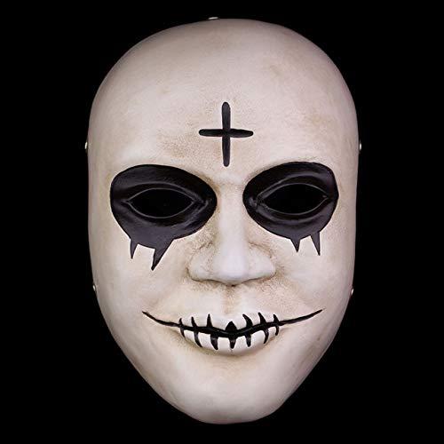 The Purge Mask Gott überqueren beängstigend Halloween Masken Cosplay Party Prop Collection Vollgesichts Harz gruseligen Horrorfilm Masque, Kreuz (Halloween-maske Purge-stil Die)