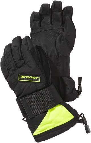 Ziener Kinder Snowboardhandschuhe Mikks AS Junior Glove SB,  Black.Poison Yellow,  M, 131724