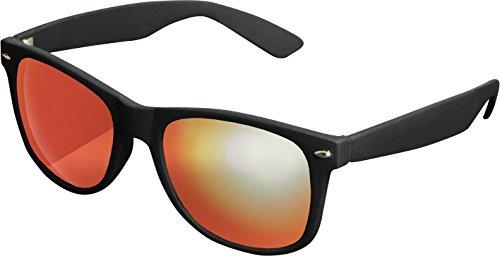 MSTRDS Likoma Mirror Unisex Sonnenbrille Für Damen und Herren mit verspiegelten Gläsern, black/red