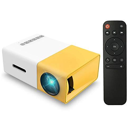 Docooler FW1S YG300 Mini LED Projecteur 1080P Projection Machine avec USB HDMI AV Télécommande pour Smartphone PC Portable