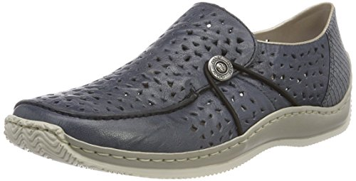 Rieker Damen L1766 Slipper, Blau (Royal/Azur), 38 EU