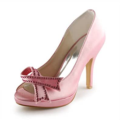 Jia Jia Wedding 3708D chaussures de mariée mariage Escarpins pour femme rose, EU 42