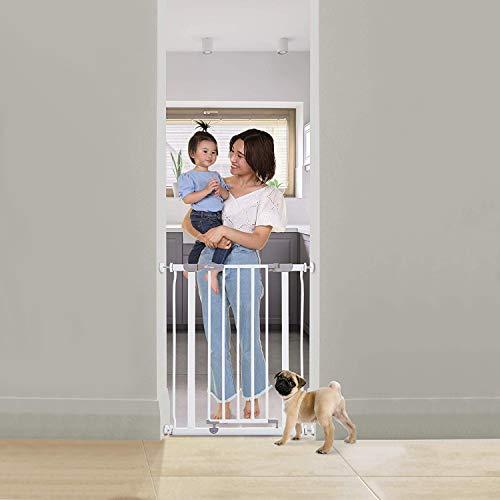 Dreambaby® Ava Slimline - Cancelletto di Sicurezza Extra-Stretto 61-68 - Installazione a Pressione....
