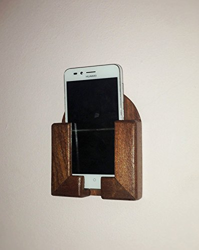 Kirschholz-schreibtisch (An der Wand befestigter Handy / Smartphone für Wand im Kirschholz)