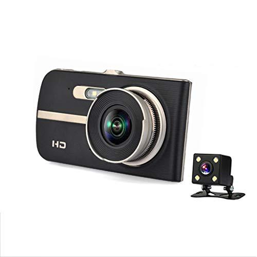 SAN_R HD Nachtsicht 1080P 4-Zoll-IPS-Bildschirm Dual Lens Driving Recorder Auto 170 Grad Weitwinkel, Zyklus Aufnahme, G-Sensor, Bewegungserkennung, Parküberwachung, Rückfahrbild