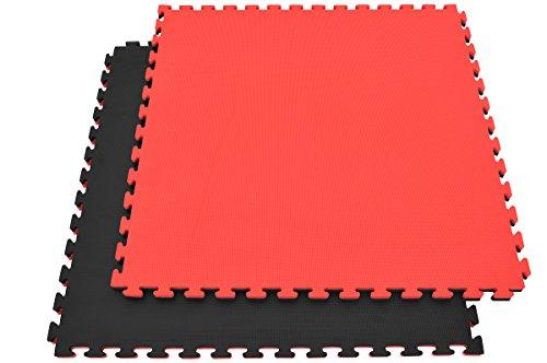 Tatami Puzzle, 2,5cm, Noir/Rouge