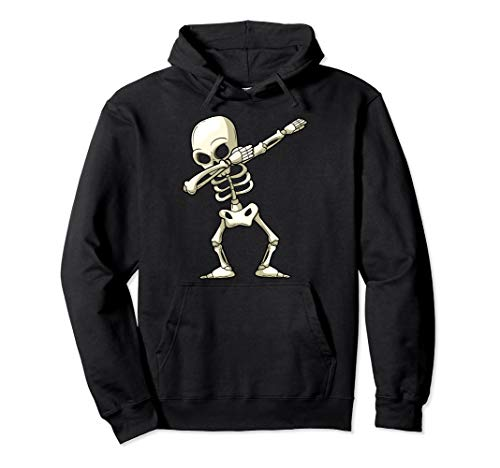Halloween Funny Kostüm Girl - Dabbing Skeleton Funny Halloween Boys Girls Kids Monster Pullover Hoodie