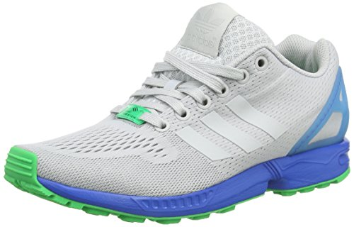 adidas Zx Flux, Sneakers Basses Homme Gris (Clear Grey/Clear Grey/Bright Royal)