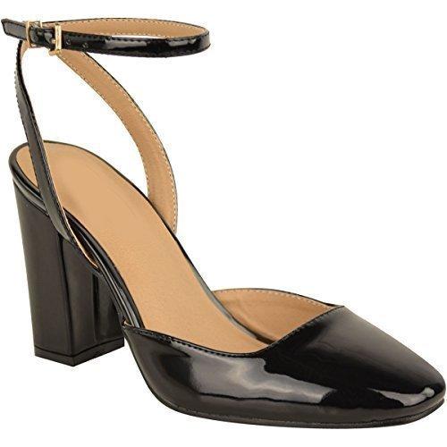 Ladies Womens Mid Block Heels Office Smart Work Court Shoes Wedding Bridal...